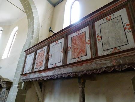 Fortificatii sasesti in Transilvania: picturi Viscri
