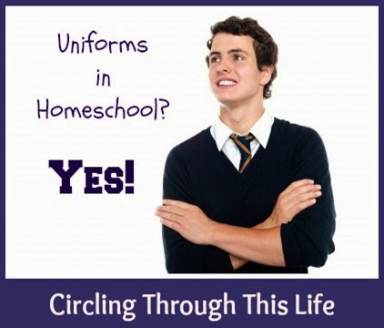 Wearing Special Clothes during Home School can help students stay focused. ~ Circling Through This Life