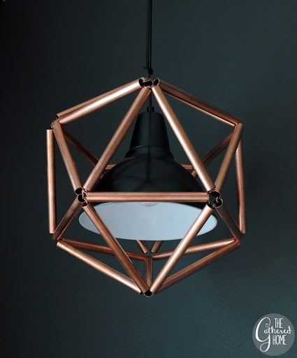 DIY Copper Pipe Icosahedron Light Fixture 11