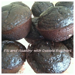 Healthier Dark Chocolate Muffins
