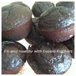 Healthier Dark Chocolate Muffins.