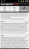 Screenshot of CorruptionTrak India