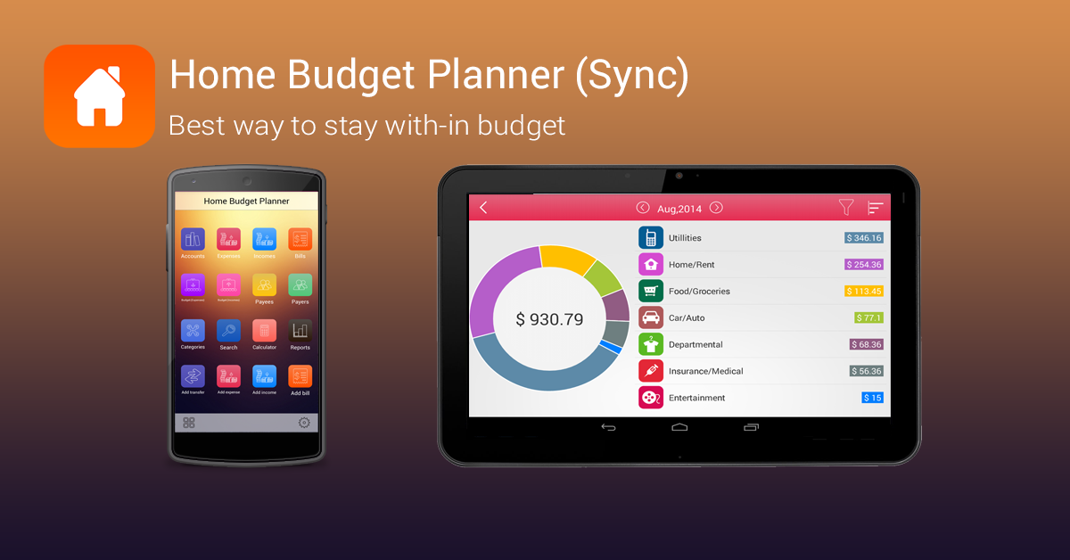 home budget planner hd android apps on google play. Black Bedroom Furniture Sets. Home Design Ideas