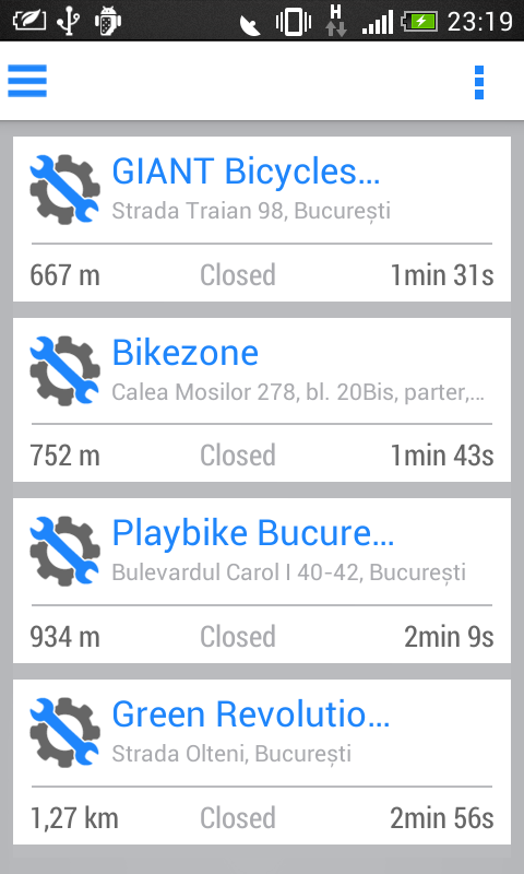 Bike Shop Detector- screenshot