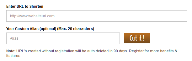Features for non-Registered users