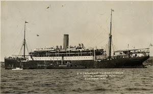 El FURST BISMARCK fue rebautizado FRIEDRICHSRUH para utilizar el nombre del Canciller de Hierro en el mayor buque de pasaje. Colección Arturo Paniagua