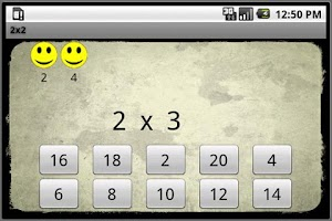 Screenshot of 2x2 Multiplication Tables