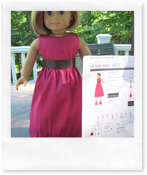tamdoll makes American Girl Doll dress