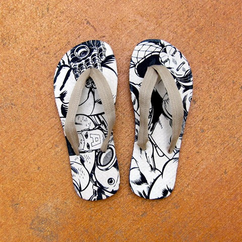 diy flip flops with mod podge
