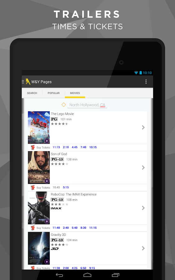 White & Yellow Pages - screenshot