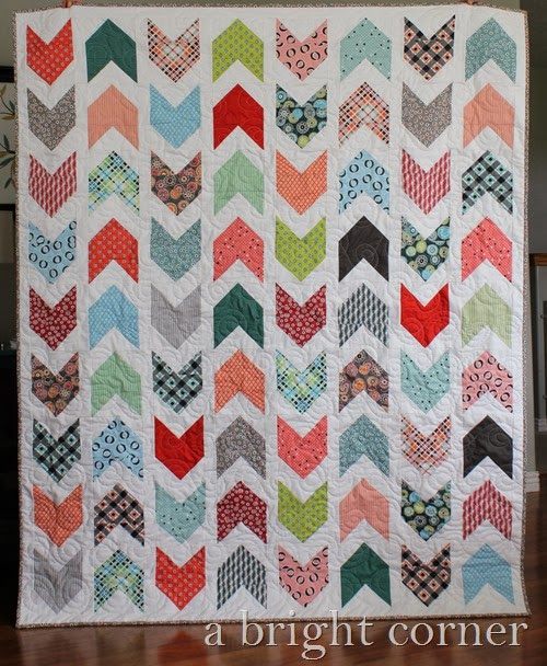Pow Wow quilt using Florence fabrics via A Bright Corner