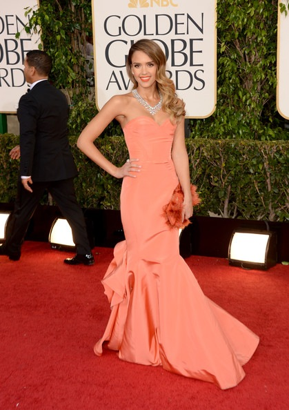 Jessica Alba arrives at the 70th Annual Golden Globe Awards