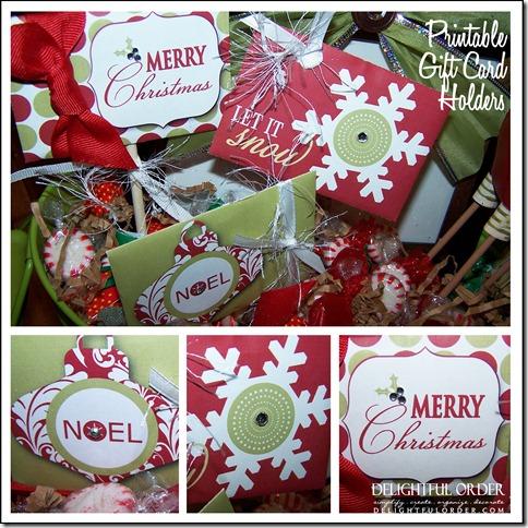 Delightful Order Printable Gift Card Holder Gift Ideas