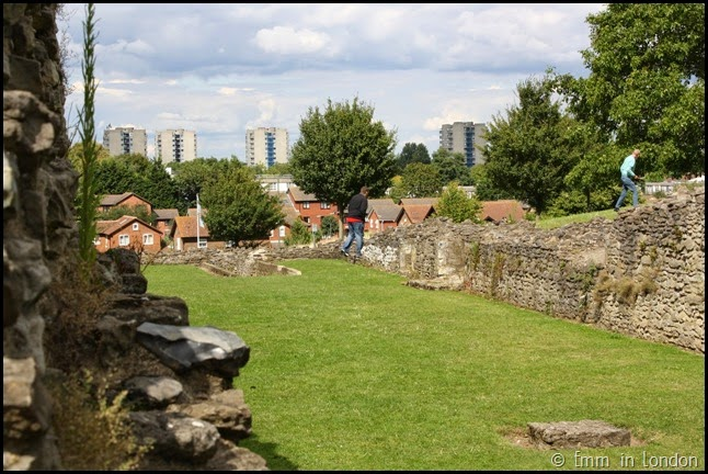 Tower blocks in the distance - Lesnes Abbey