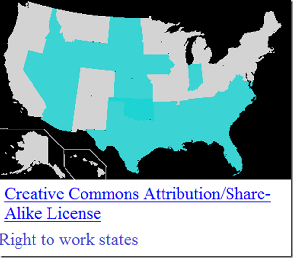 Right to work states wiki