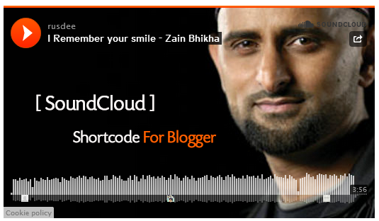 Add SoundCloud Shortcode in Blogger