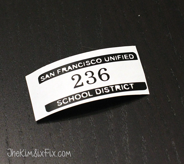 School locker tag sticker