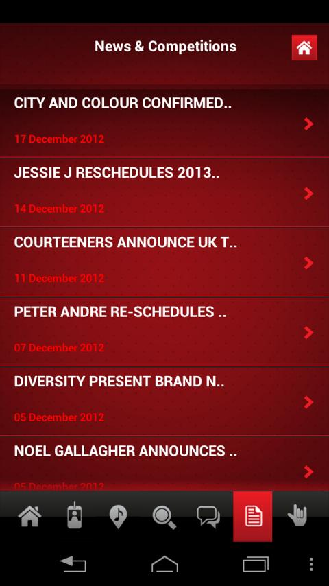 Gigs and Tours - screenshot