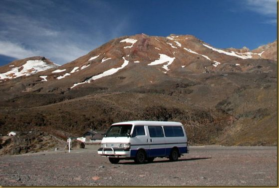 Bernie in front of Ruapehu