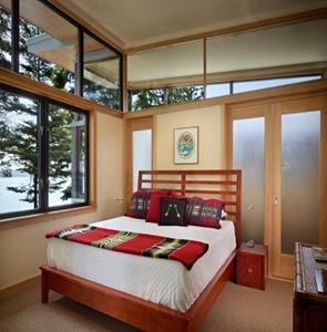 diseño de habitacion cama moderna