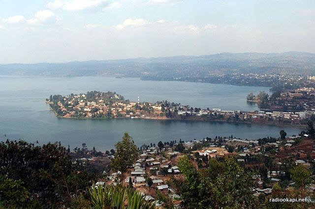 Vue panoramique de Bukavu, 2004.