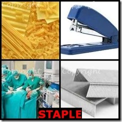 STAPLE- 4 Pics 1 Word Answers 3 Letters