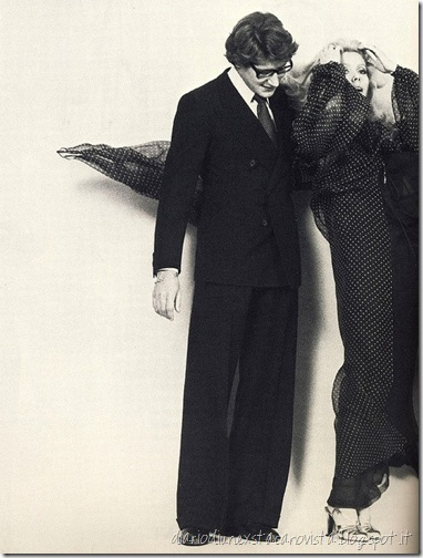 Yves Saint Laurent and his Best Friend and Muse Catherine Deneuve.Vogue Paris,March 1976