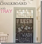 DIY chalkboard with tray-sm