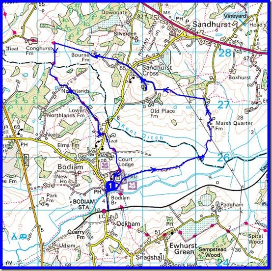 Our route - approx 12 km in 3 hours