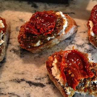 Sun Dried Tomato with Fig Jam Bruschetta