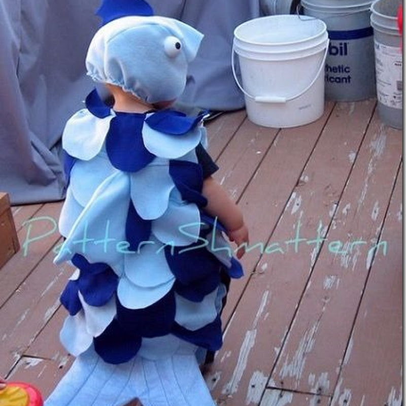 Disfraz de pez con escamas para niños