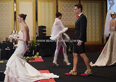MALAYSIA INTERNATIONAL SHOE FESTIVAL 2012 JIMMY CHOO Wedding gowns shoes beaded satin silk blings Stilettos booties sling backs