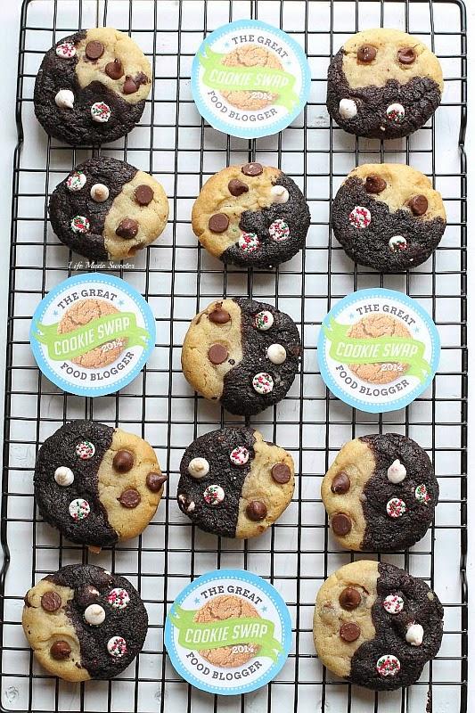 Double Chocolate Peppermint Chip Swirl Cookies #fbcookieswap @LifeMadeSweeter.jpg