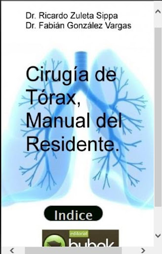 Manual de Cirugia de Torax