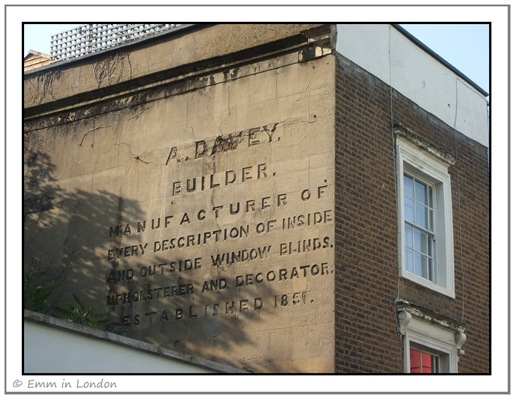 A Davey Builder Ghost Sign Portobello Road