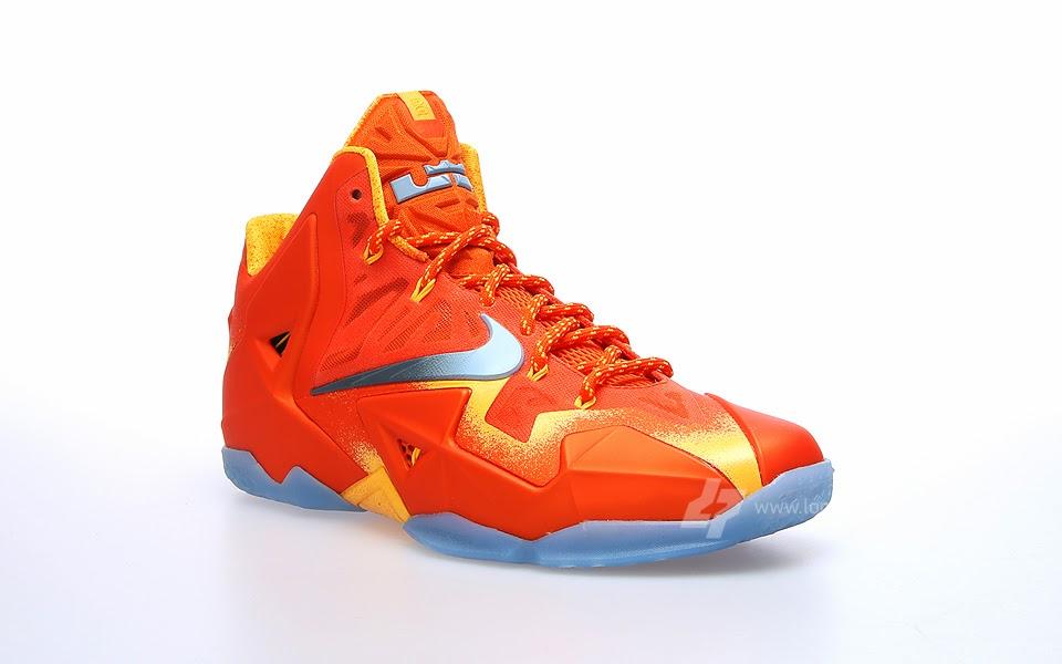 2bffa978397e02 626376-800 Urban Orange Light Armory Blue-Laser Orange. A Sizzling Look at  Nike LeBron XI 8220Forging Iron8221 ...