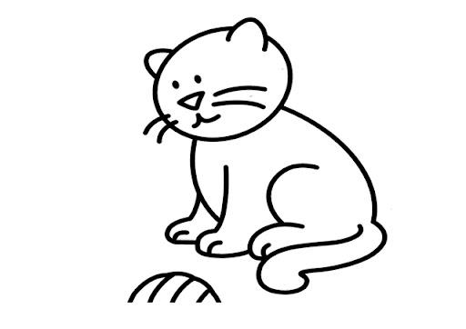 Libreta Para Niños Con 25 Dibujos Para Colorear: Gato Infantil Para Colorear