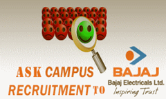 Bajaj Electricals Campus Recruitment