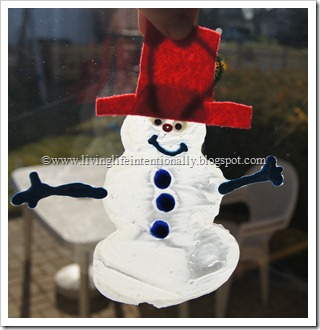 Glue Snowman Craft for Kids