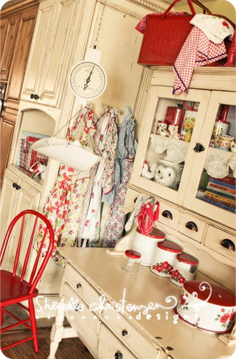 vintage country kitchen
