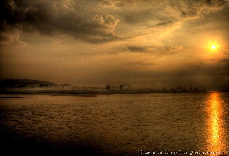 Sunset Mekong River Thailand