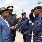 Adolphe Lumanu, vice ministre de l'Intérieur et Sécurité, en visite à Kisangani, décembre 2010.