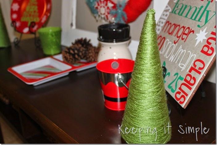Glitter styrofoam cone Christmas Trees (1)