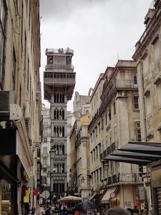 Ascenseur de Santa Justa à Lisbonne