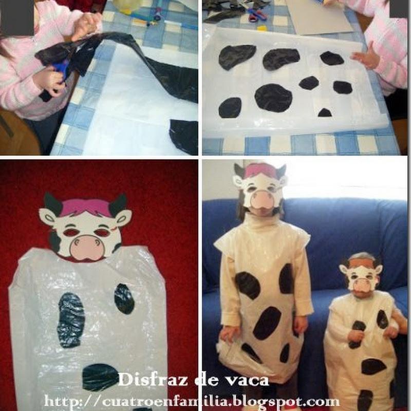 Ideas disfraz escolar de vaca con bolsa de basura