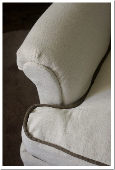 DIY chair cover, how to take any junky old chair and turn into a brand new piece of furniture with a diy slipcover!