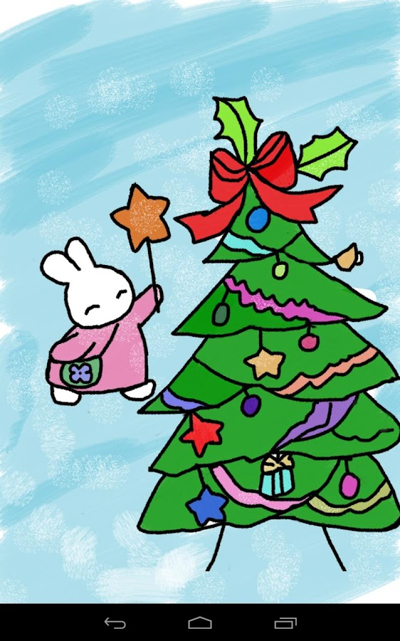 Kids Paint Christmas Cards - screenshot