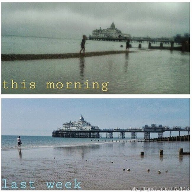 eastbourne beach on different days