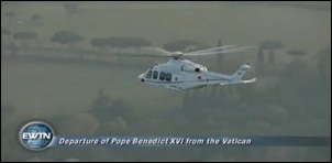 Pope Benedict XVI departs from the Vatican