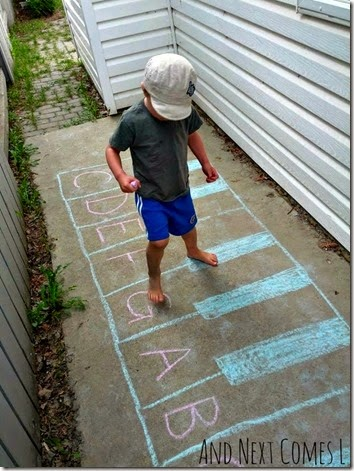 Summer Learning Ideas - Use a Chalk Piano to help kids learn piano notes!